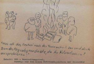26.06.1967 SDS Wandzeitungstext - Notstandsgesetze, FZH