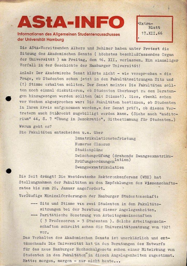 AStA-Info, Extrablatt, 17.12.1966