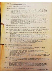 1967 SDS Entwurf Hochschulgesetz