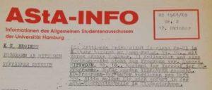 AStA-INFO Nr. 17 1967